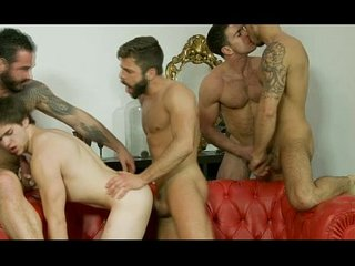 Will Brauns orgy showered with cumloads
