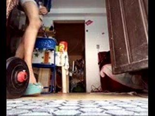 Walking on heels