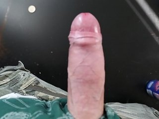 Masturbating Hands-free Big Cock Cum HUGE LOAD