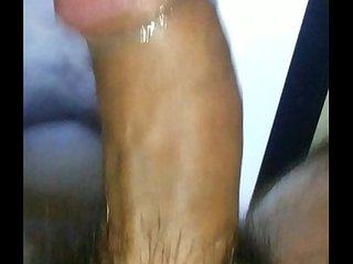 Daddys indian slave jhalak covered in cum shower on skype