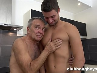 Gay grandpa of the year chews dick for Valentines day