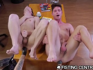 FistingCentral College Boys Get Distracted By Rough Anal Fisting