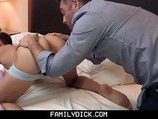 FamilyDick - Sex Hotline StepDaddy Punishes His Boy's Smooth Hole