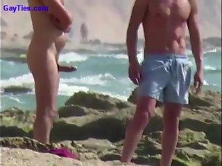 Big Boner on a Russian Beach