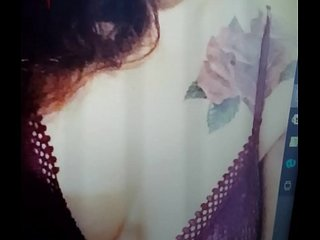 Cum tribute for sexy redhead