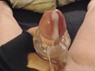 My solo 66 (Quick toy fuck from above and messy cum)