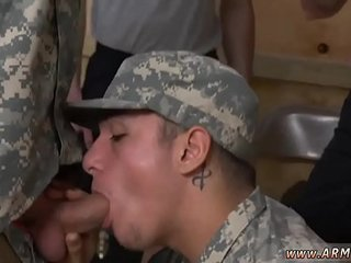 Muscular gay guy naked army exam video and military drill male boy