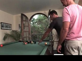 Hot gay sex during pool match gay porn