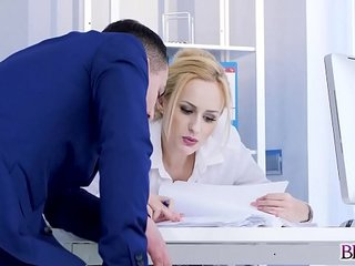 Hot computer technician gets seduced by Angel Wicky and her coworker!