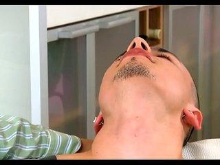 Arousing fellatio with studs